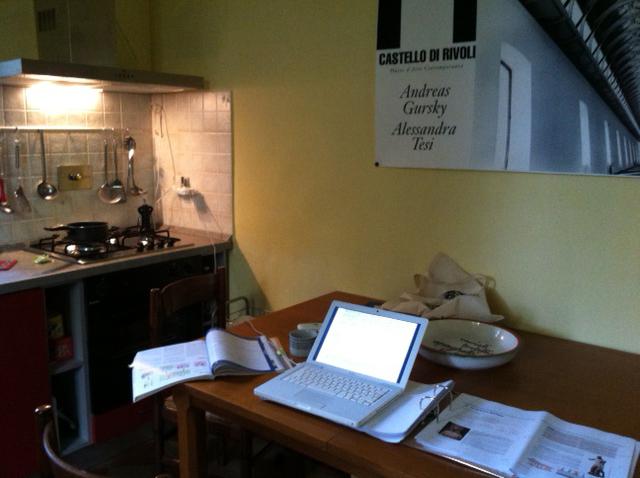 working in hte kitchen Michi & Fabri