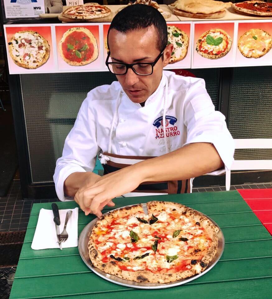 Gino Sorbillo testing NYC pizza