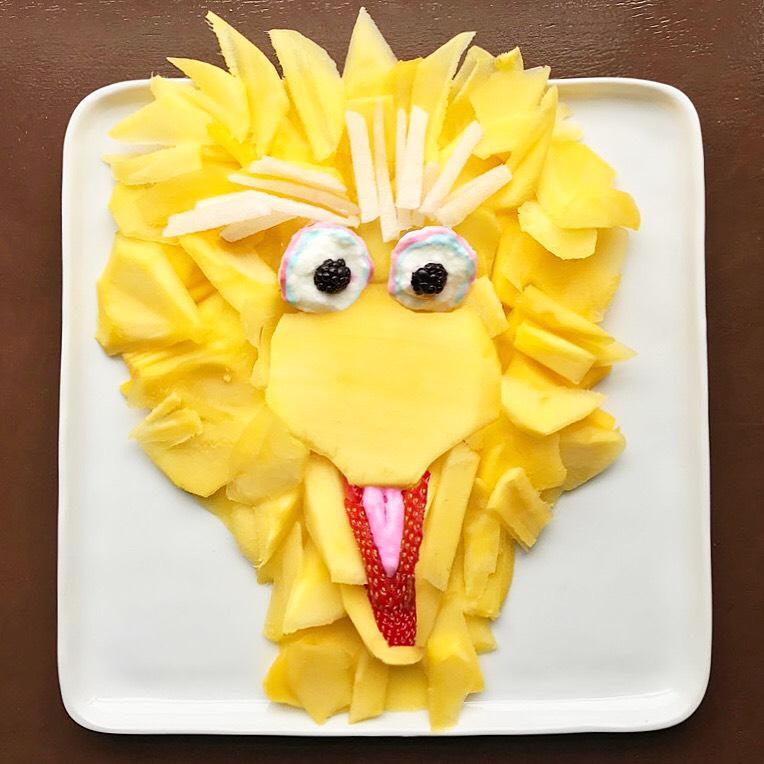 Harley Food Art Sesame Street bird